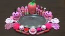 AMAZING PINK SLIME MIXING RANDOM THINGS INTO CLEAR SLIME !! RELAXING SATISFYING SLIME