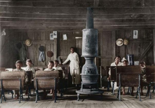 Школа для темнокожих в штате Кентукки, 1916 год.