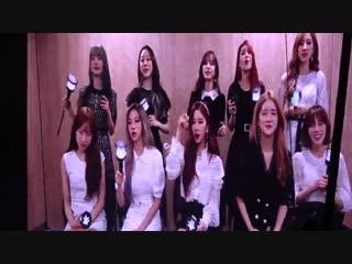 [fancam] 190119 monsta x's fanchant from wjsn in music bank in hong kong @ cosmic girls