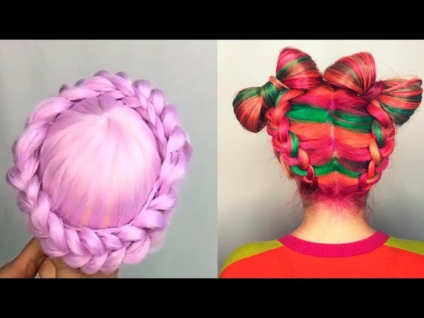 Стрижки Прически.Техника Окрашивания волос Омбре Шатуш Балаяж 2018🌈 Amazing Hair Transformations