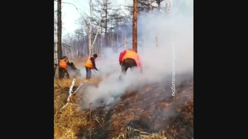 Пожар возникший несколько дней назад в окрестностях п Ванино ушел в сторону от поселения сообщают в поселковой администрации