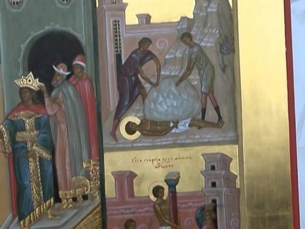 Храмовая икона св Георгия Победоносца г Кемерово