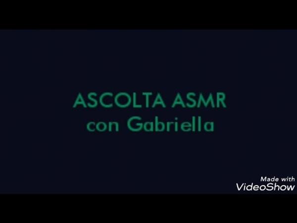 ASMR in italiano con Gabriella. suoni per dormire