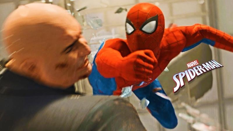 Знакомьтесь тот самый Человек Паук. Начало прохождения игры Marvels Spider Man летсплей PS4
