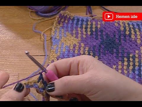 Ezgi Sertel'le Kadınlar Bilir'de Sibel Kavaklıoğlu'ndan ekose örgü tekniği