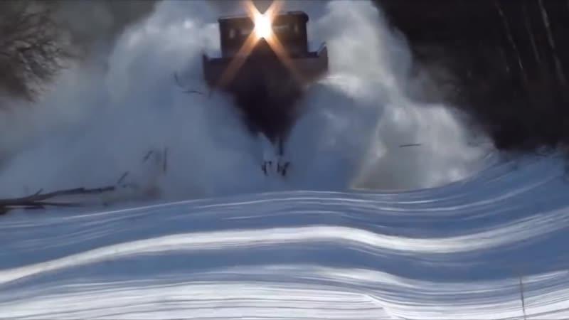 Канадские снегоуборочные поезда