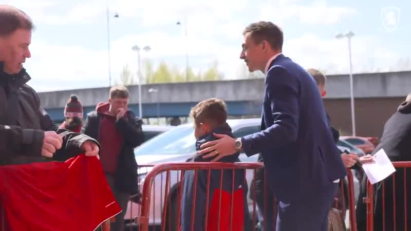 Boro players arrive at the Riverside for the league game against Hull City