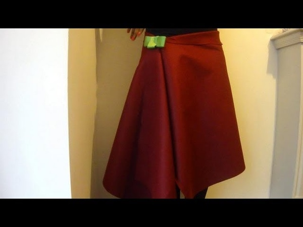 DIY No Sew Skirt How To Make A Wrap Over Skirt In 1 Minute!