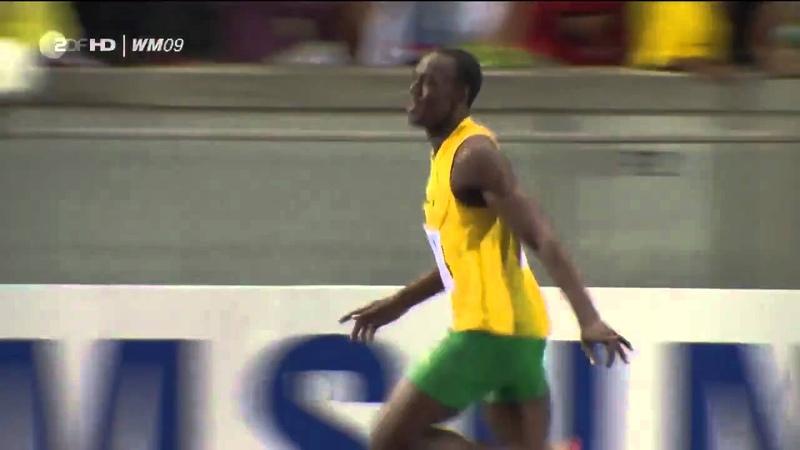 Усэйн Болт 100м за 9 58 мировой рекорд 16 08 2009