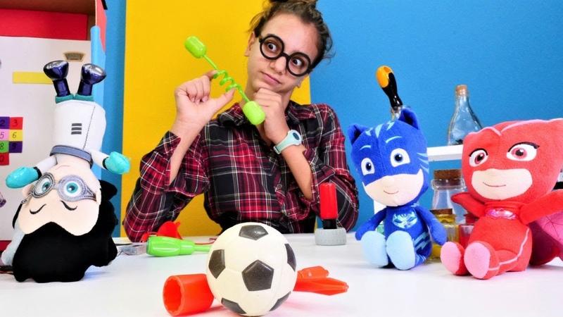 Pj Maskeliler oyuncakları. Romeo Kedi Çocuğa dönüştürülüyor!