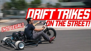DRIFT TRIKES ON THE STREET! (How is this Legal?)