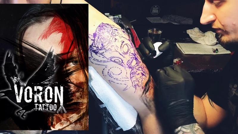 Voron Tattoo - Slipknot (time laps)