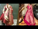 Plain anarkali suit with brocade dupatta design ideas/silk dupatta with anarkali kurta