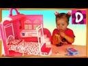✿ Барби СПАЛЬНЯ с ВАННОЙ Домик-Чемоданчик MEGA BLOKS Barbie Doll HOUSE