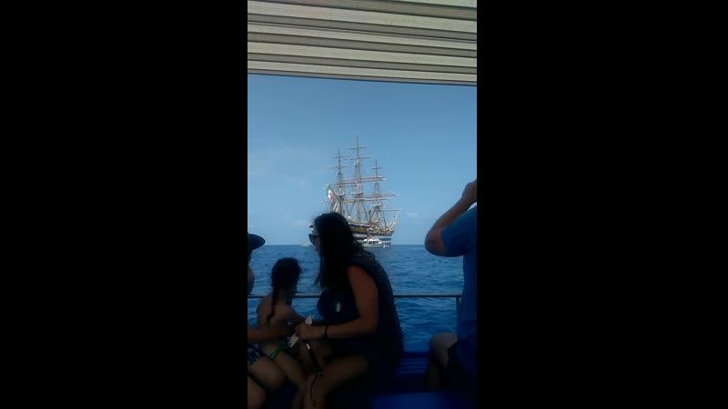 парусник Amerigo Vespucci впервые в Скалее italia scalea такиживем лето2019V_20190618_112942