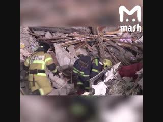 Разбор завалов на месте взрыва жилого дома в Магнитогорске