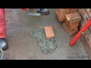 Кладка угла в 1 кирпич - Строим дом своими руками