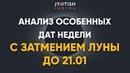 Анализ Особенных дат недели с затмением Луны до 21.01