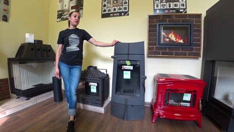 Видео обзор на печь-камин Invicta Chamane