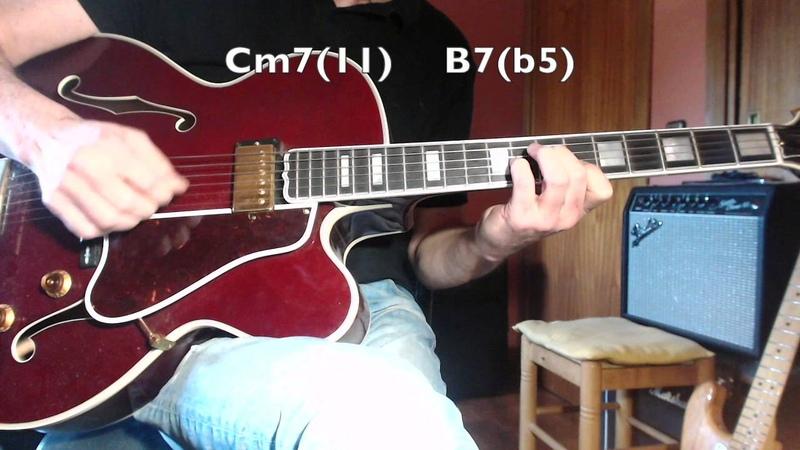 Jazz Guitar - One Note Samba - A.C.Jobim - three voices chords