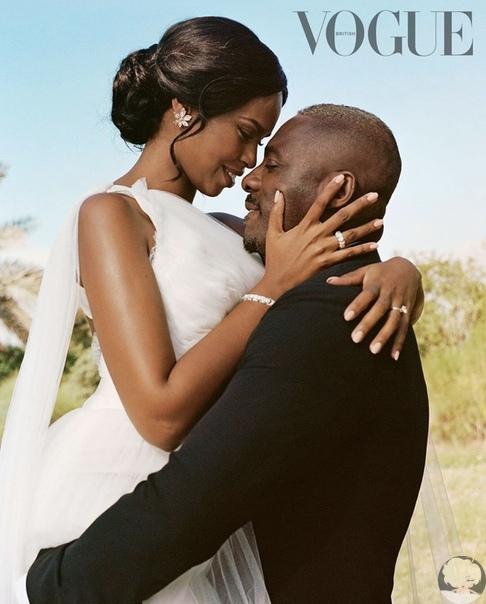 Идрис Эльба поделился новыми фото со свадьбы на страницах Vogue