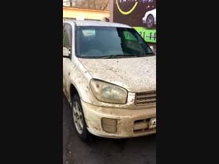 На автомойку привезли очень грязный авто