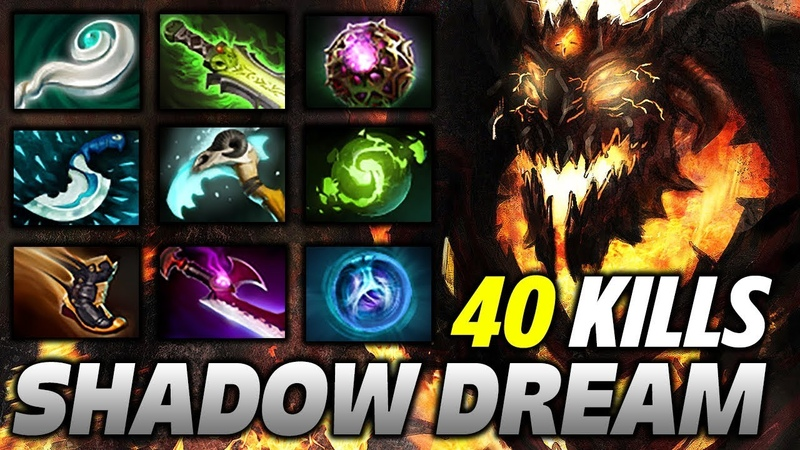 Shadow Fiend 40 KILLS 9 slotted Monster Dota 2