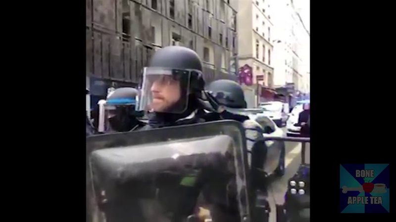 French Yellow Vests Protest Playing Evangelion Theme