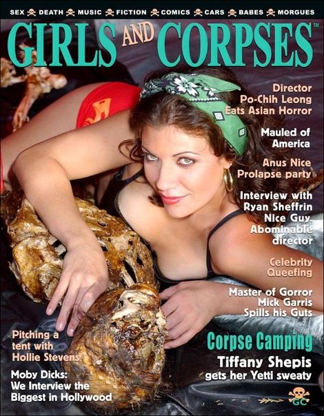 Эротический журнал Girls and Corpses Представьте, что будет, если смешать «Ночь живых мертвецов» и журнал Maxim в равных пропорциях. Получится феерическое издание Girls and Corpses (буквально