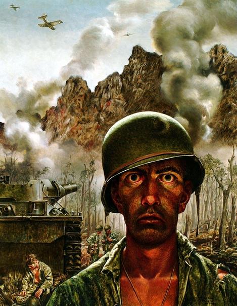 «Взгляд на две тысячи ярдов» — внешний вид солдат, переживших боевое потрясение (описания под фото)Среди американских военных есть выражение «взгляд на две тысячи ярдов», которое используют,