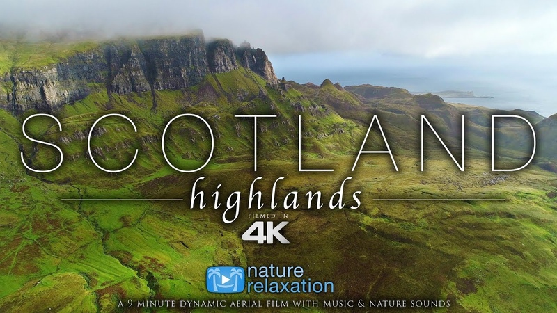 (4K) Scotland Highlands by Drone! Chillout Music - Nature Relaxation™ Aerial Film - Isle of Sky