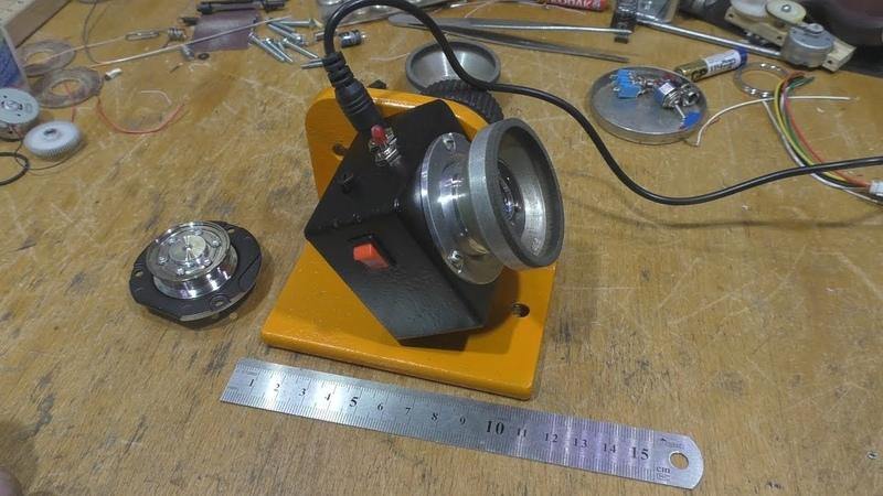 Микрозаточной с мотором от винчестера. (Mini Grinding with a motor from the HDD)