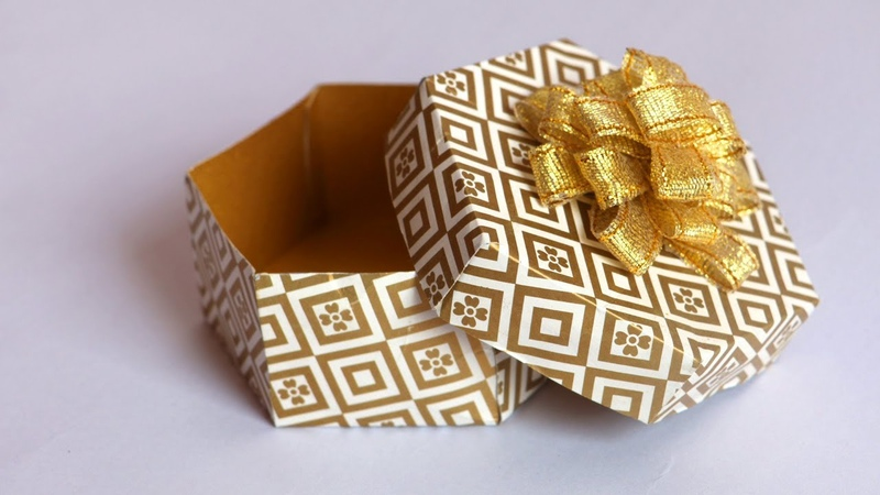 DIY Gift Box tutorial   Paper Gift Box   Easy Paper Crafts   Little Crafties