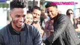 Trey Songz Signs Autographs &amp Takes Selfies With Fans At Extra In Universal Studios Hollywood
