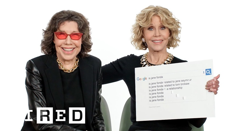 Jane Fonda Lily Tomlin Answer the Webs Most Searched Questions   WIRED