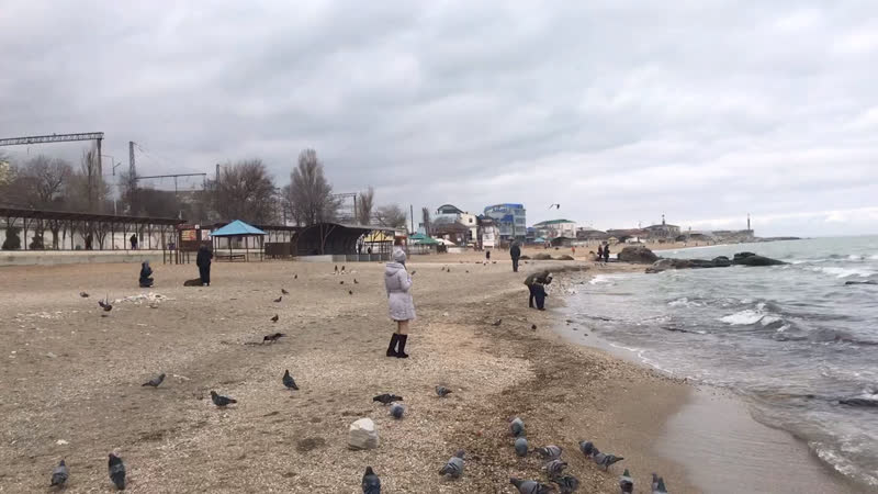 13.02.2019 года, Махачкалинский пляж👍