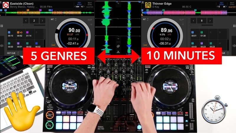 5 Genres in 10 Minutes Mixing Transition Ideas Pioneer DDJ 1000 DJ Mix