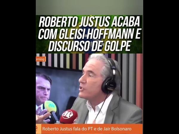 Roberto Justus acaba com gleisi Hoffmann e discurso de golpe