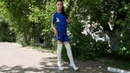 Elena in pointed toe platform high heels Gianmarco Lorenzi white over the knee boots Size 37 5