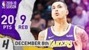 Kyle Kuzma Full Highlights Lakers vs Grizzlies 2018.12.08 - 20 Pts, 9 Reb, 6 Ast