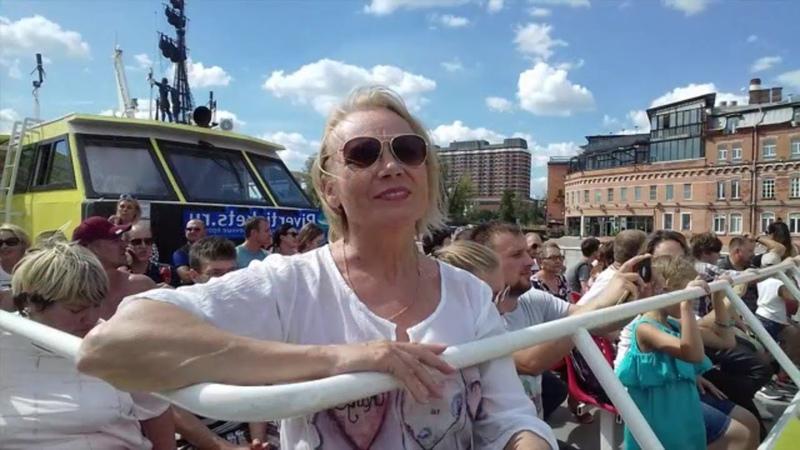 ПРОГУЛКА ПО МОСКВА-РЕКЕ/Водные Экскурсии Парк Заречье/Москва Moscow Russia