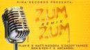 Zum Zum Remix 🐝🍯 - Plan B, Natti Natasha, Daddy Yankee, Rkm Ken-Y, Arcangel Lyric Video