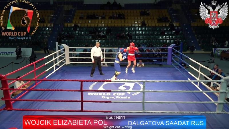 Бой Саадат Далгатовой, ученицы Фролова А.Л.