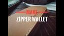 Кошелек клатч с круговой молнией своими руками КОНКУРС Leather zip wallet Hand Made