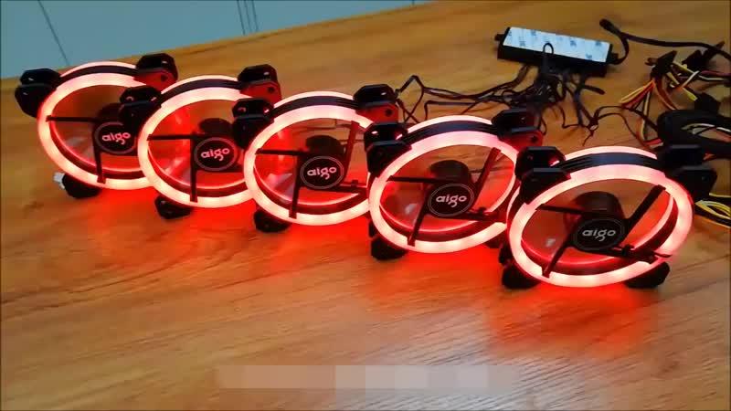 Интернет магазин Aigo DR12 120 мм вентилятор Cooler двойной Aura RGB PC Вен.mp4