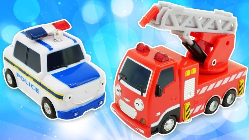 Helfer Autos für Kinder auf Deutsch - Die Aufgaben des Feuerwehrautos - 4 Videos am Stück