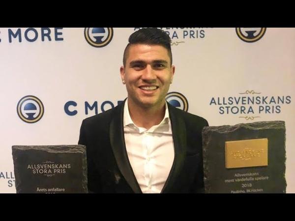 Paulinho vinner priset som årets anfallare (Allsvenskans stora pris)