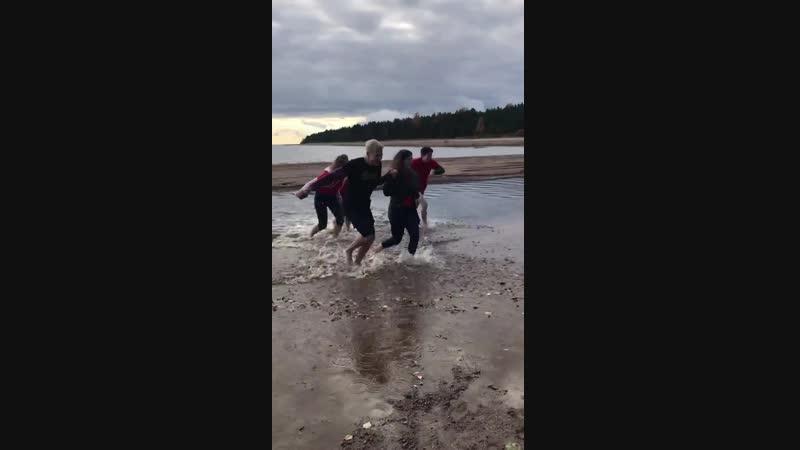 Крещение первокурсников в Финском заливе