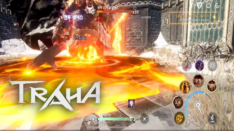 Traha Online - Warrior vs Wizard Dungeons Gameplay