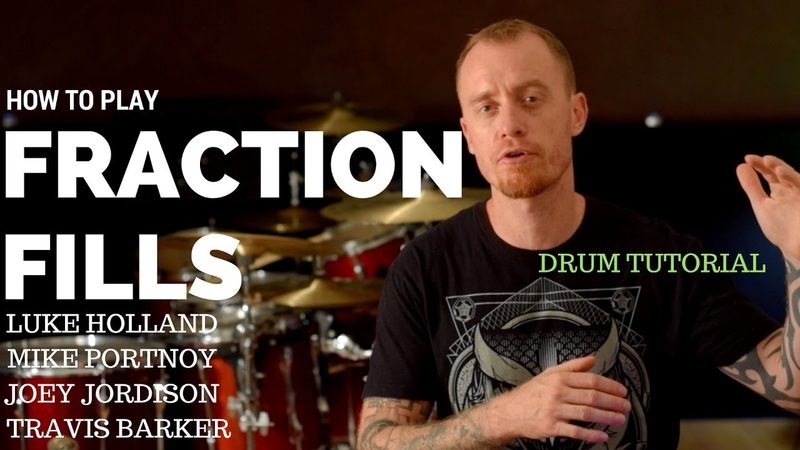 How To Play Fraction Fills Drum Lesson Used By Luke Holland, Mike Portnoy, Joey Jordison